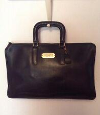 "Vintage Coach New York City Black 11"" X 17"" Briefcase Satchel W/ Initials *Vguc*"
