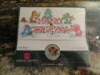 12 Pc Vintage American Greeting Care Bears Christmas Cards Self Sealers NOS