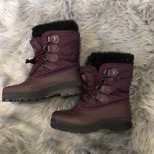 Womens Sz 6 SOREL KAUFMAN Winter Waterproof Insulated Boots Purple Made CANADA
