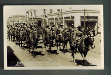 Mint Canada RPPC Postcard RCMP  Mounted Police On Parade at Calgary Stampede