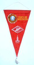 1980 USSR Russian Soviet LENIN Propaganda SPORTS Pennant SPARTAK Olympic Logos
