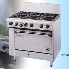 "Goldstein PF-24G-2-28 Ranges – Gas 6 Burner – 711mm Oven (28""), Static oven"