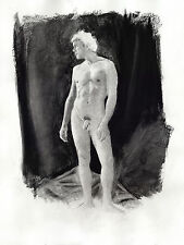 Drawing NUDE male HELIOS, charcoal classic NR 1/43/50 Esteban Pencil FREE SHIP