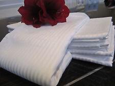 FRETTE 310TC Rigato Ara White Stripe Queen Flat Sheet, Beautiful Soft Feel!