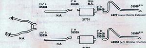 1967-68 MONTEGO, FAIRLANE & COMET CYCLONE DUAL EXHAUST, ALUMINIZED, 390 ENGINES