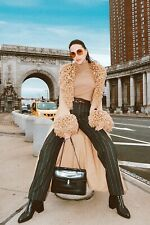 BGN Paris Wool Beige Runway Jacket Coat Sz S Unique & Rare