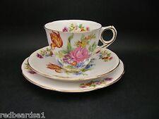 Royal Stafford Floral Spray Vintage English Bone China Trio Cup Saucer Plate