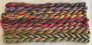 #10 Leaf/Flower Colors 10 Caron Waterlilies 12 Ply Silk Thread Without Tags