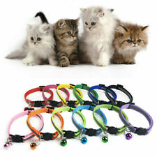 Pets Cats Safety Nylon Collars Buckle Reflective Breakaway Adjustable With Bells