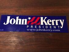 Official 2004 John Kerry Presidential Campaign bumper sticker Memorabilia