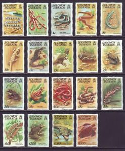 Solomon Islands 1979 SC 397-412A MNH Set Reptile Amphibian