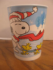 Winter Snoopy & Woodstock Plastic 16 oz. Cup - Hallmark Party