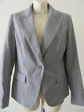 NWT NY & Co Ladies Jacket 12 Petite Fitted Striped Dress Blazer Coat $69.95