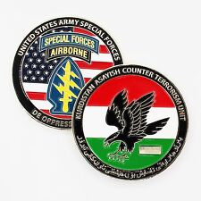 Army Special Forces Airborne Kurdistan Asayish Counter Terrorism Challenge Coin=
