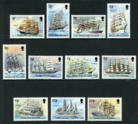 Falkland Islands Scott #485-495 MNH Sailing Ships of Cape Horn 1p-20p CV$23+
