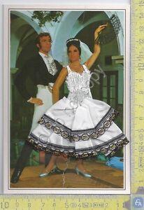 Cartolina Ballerina Flamenco 4 - ricamata con busta Hotel Praga - Brodee
