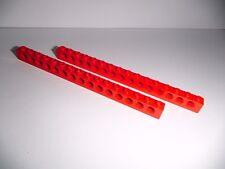 Lego Technic (3703) 2 Lochsteine 1x16x1, in rot aus 8652 7347 8678 8429