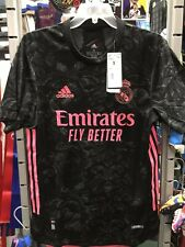 adidas Real Madrid 3rd Authentic 20-21 Black Pink Soccer Jersey Size M Men Only