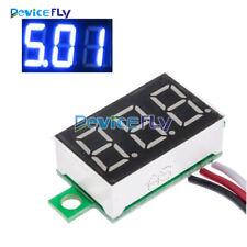 """0.36"""" DC 0-30V LED Panel Voltage Meter 3-Digital Display Voltmeter 3 Wires"""