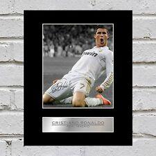 CRISTIANO Ronaldo foto autografata montato visualizzazione Real Madrid