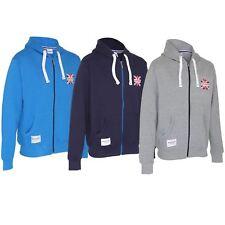 Mens Lambretta Zip Thru Hooded Sweat Top-Jacket-Coat-BM9820-Hoodie-Mod