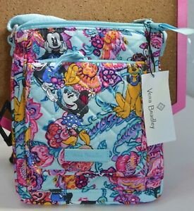 Vera Bradley Mickey Mouse and Friends Colorful Garden Mini Hipster Bag RFID NWT!