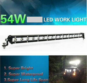 """Bright 21"""" 54W LED Work Light Bar Spot Beam Offroad Driving Lamp For SUV JEEP"""