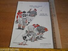 Mater Dei 1960 Football program CA High School vs Santa Ana Valley
