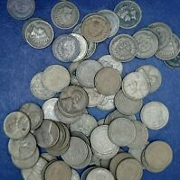 WHEAT PENNY ROLLS WITH 3 INDIAN HEADS,EA ROLL STEEL, TEENS AND 20S GUARANTEED