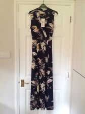BNWT PER UNA  M&S size 10 blue / navy floral sleeveless summer maxi dress