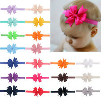 "20pcs/Lot Baby Girl 4.5"" Hair Bows Headbands for Infant Toddlers Newborn Big Bow"