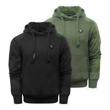 Crosshatch Couvert Mens Hoodie Cotton Hooded Pull Over Sweater