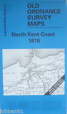 OLD ORDNANCE SURVEY MAP NORTH KENT COAST FAVERSHAM WHITSTABLE 1878 SHEET 273