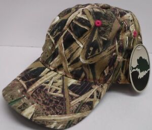 Womens Mossy Oak Camo Pink Stitching Adjustable Hat