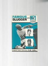Original   1971   Louisville Slugger Famous Slugger Yearbook