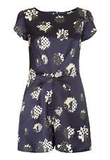 New! Topshop daisy playsuit - UK 10 - polka dot floral retro vintage ditsy blue