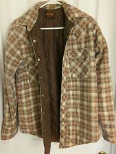 Vintagestir'Ups Western Pearl Snap Flannel Thermal Lined Lumberjack Shirt Medium