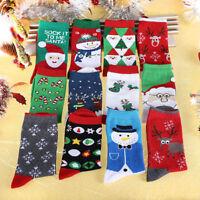 100% Cotton Christmas Fancy Lots Women Kids Cartoon Santa Socks Cute Xmas Gift