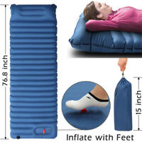 Self Inflatable Mat Sleeping Pad Camping Tent Air Mattress Cushion for Outdoor