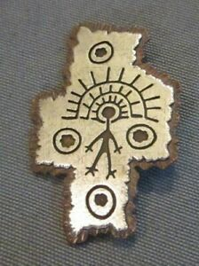 925 Silver (Sterling) & Copper Pin Handmade With Inscription by RAH