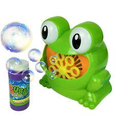 Children Kids Bubble Blowing Machine Blower Automatic Frog Shape Kids Toys Gift