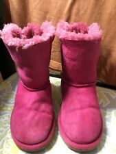 Uggs Pink Bailey Bow Boots, size 3