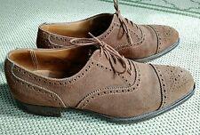 Crockett & Jones Westminster Tobacco Suede Cap Toe Dress Shoes 9.5 D England