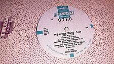 "U.T.F.O. We Work Hard 12"" Original Hip hop Vinyl Select"