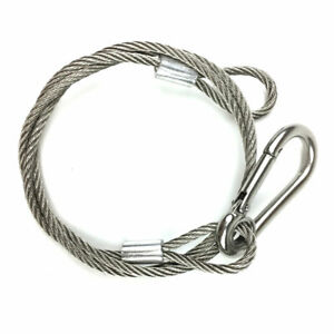 """Safety Security Sliver Stage DJ Light Cable 25.5"""" Wire Line Stainless Steel 50KG"""
