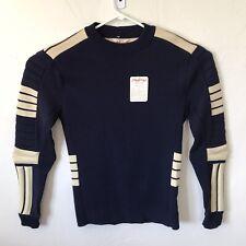 NWT Vintage Steffner Size Medium Navy Blue Ivory Wool Padded Ski Sweater