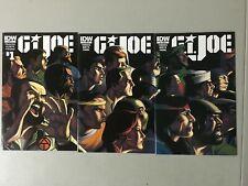 GI JOE #1 2 3 Connecting Cover IDW Complete Run Lot Set 1st Print Volume 4 2014