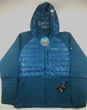Columbia Mens Large Blue Titanium Snowfield Omni Heat Hybrid Hooded Jacket $180