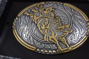 CRUMRINE Belt Buckle  Antique Affliction BULL RIDER M&F Western 38010