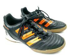 Adidas Predator Black & Orange Leather Indoor Soccer 2011 Shoes Men Sz 5.5 EUC